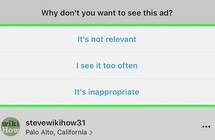 different options for instagram ads