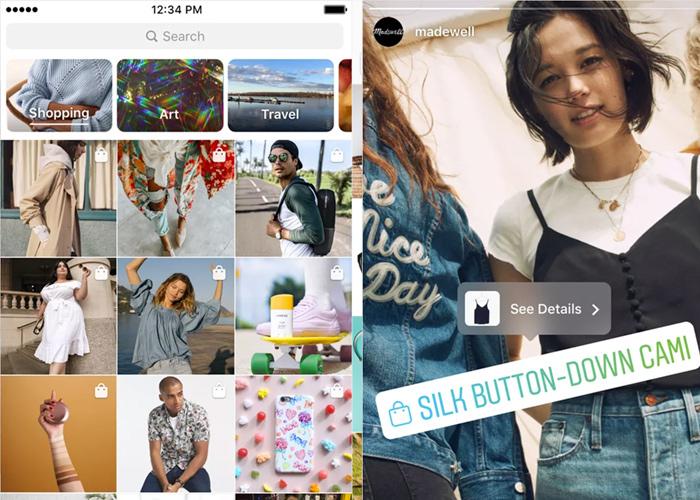 shop section on instagram explore