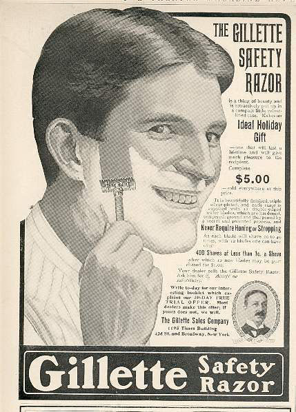 Gillette moved his razor-sharp ads, which he published in local newspapers on weekends, to a blog that offered tips on facial correction.