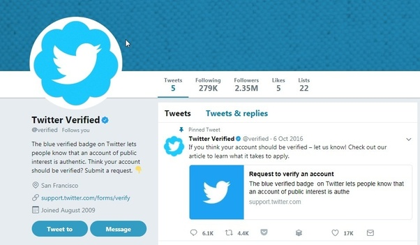 What does Twitter verification mean?