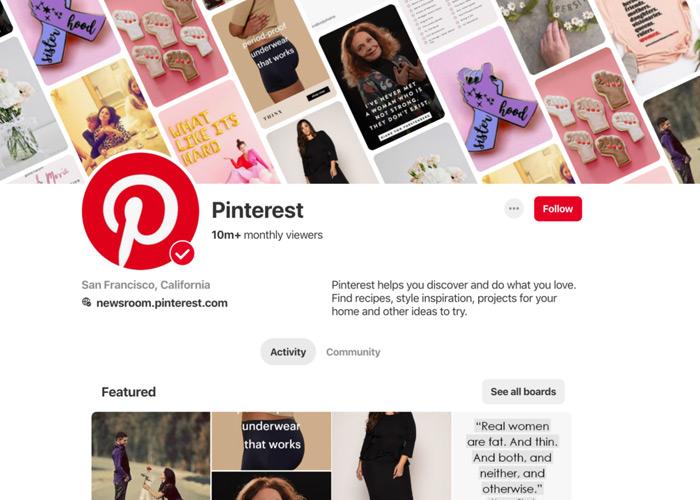 Get verified on Pinterest