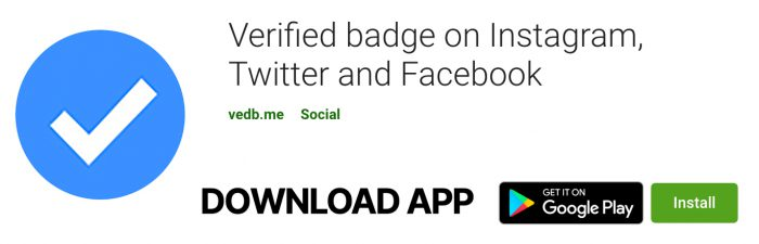 Verified badge on Instagram