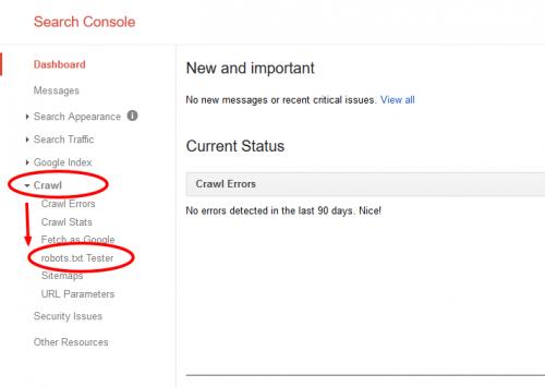 افزودن فایل robots.txt به Search Console