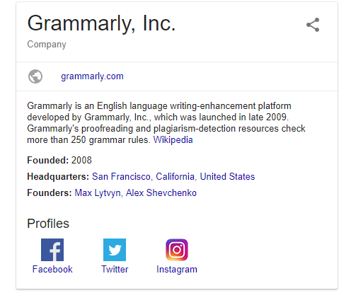 Google Grammarly