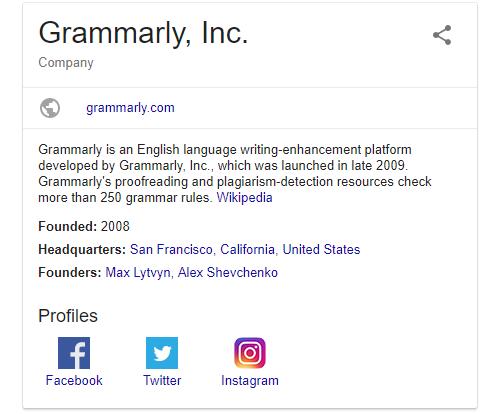 Google Grammarly