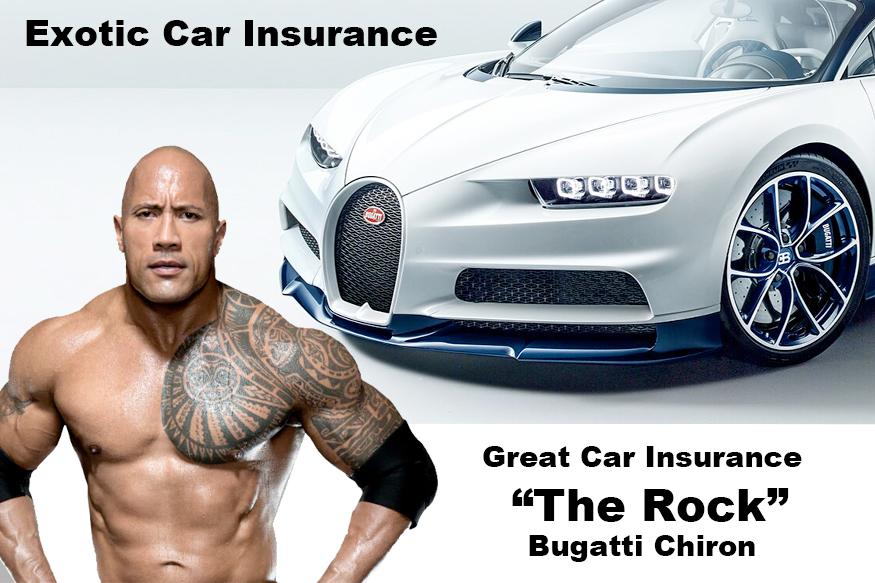 "Great Car Insurance : ""The Rock"" : Bugatti Chiron"