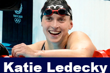Katie Ledecky Wins Another Gold , Olympic Swimming Highlights
