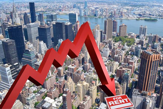 rental prices dropping in Manhattan New York