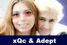xQc and Adept