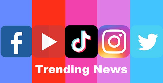 Top Trending Topics & Popular News on Instagram, TikTok, Twitter, facebook & Youtube